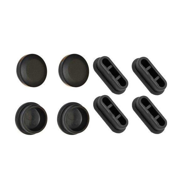 Conjunto de tapas de goma para rodillos de entrenamiento Tacx NEO